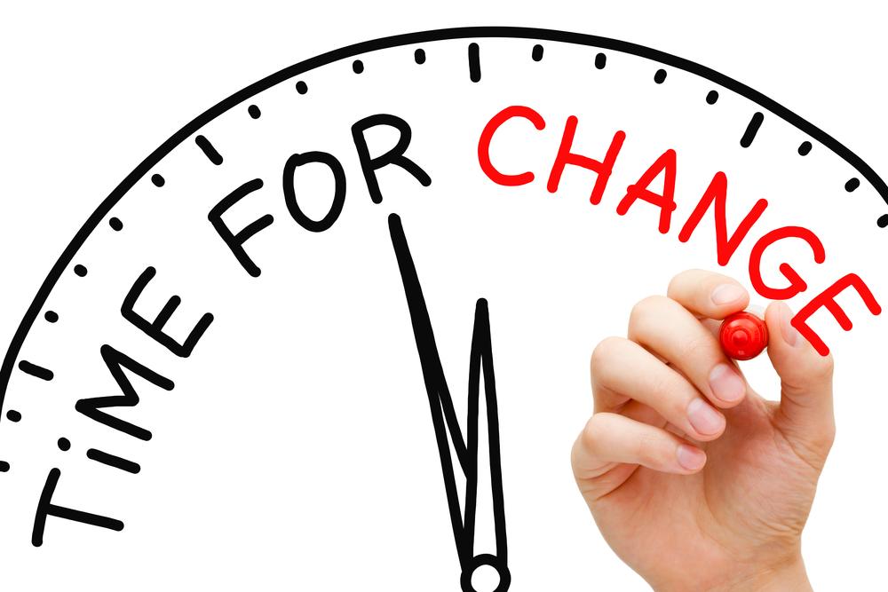 dagelijkse sleur time for change